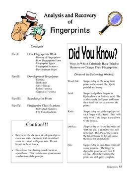 Forensic Science Fingerprinting Unit