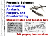 Forensic Science Questioned Documents Student Notes Worksh