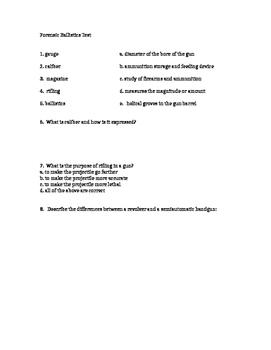 Forensics Ballistics Test