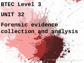 Forensics - Crime Scene Processing and Techniques
