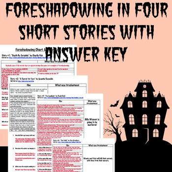 Foreshadowing Charts for four short stories