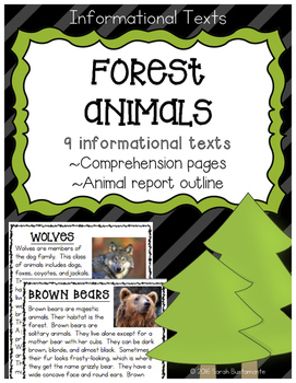 Forest Animals Informational Texts