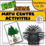 Forest Animal Math Center Activities