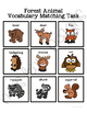 Forest Animal Vocabulary Folder Game for students with Autism