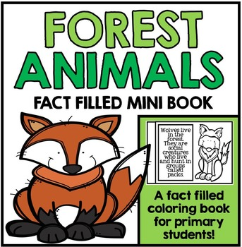 Forest Animal Unit Booklet - Forest Animal Facts and Information