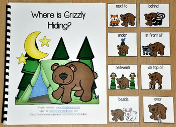 """Forest Animals Adapted Book--""""Where is Grizzly Hiding?"""""""