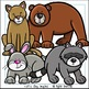 Forest Animals Clip Art Set - Chirp Graphics