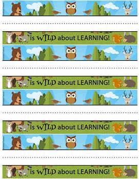 Forest Animals Desk Name Tags