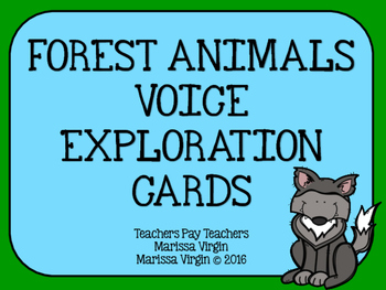 Forest Animals Voice Exploration Cards