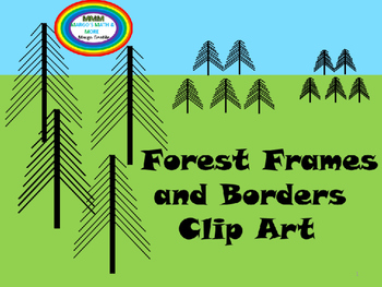 Forest Frames and Borders Clip Art