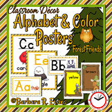Alphabet & Color Posters: Forest Friends Edition