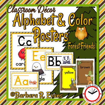 ALPHABET & COLOR POSTERS: Forest Friends Edition