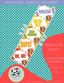 Forest Friends Behavior Chart