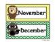 Forest Friends Calendar Header Cards