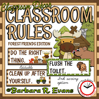 CLASSROOM RULES: Forest Friends Edition