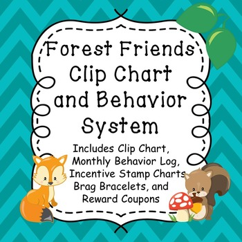 Forest Friends Clip Chart and Behavior System