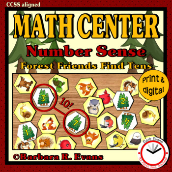 NUMBER SENSE: Addition within 10, Math Center, Game, Arith