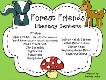 Forest Friends Literacy Pack (K-1) A&B Differentiated CCSS