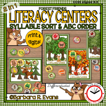 SYLLABLE SORT: Forest Friends Literacy Center