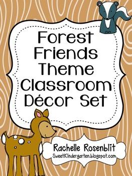 Forest Friends Theme Classroom Decor Set