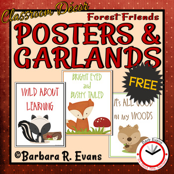Forest Friends Wild About Learning Posters & Garlands