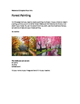Forest Painting- Special Needs