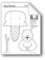 Forest Paper Tube Animals: Beaver, Skunk, Fox, Raccoon, Squirrel