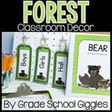 Forest Themed Editable Classroom Pack