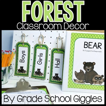 Editable Forest Theme Classroom Decor - Hundreds of Pages