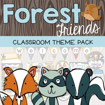 Forest and Woodland Classroom Decor Theme Pack {Editable}