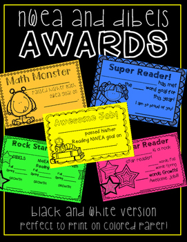 Forever Freebie: NWEA and DIBELS Awards!