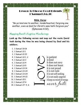 Forgiveness Lesson on David and Saul (Teen)