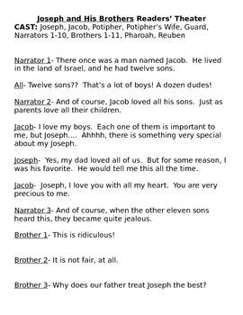 Forgiveness Lessons-- Joseph and His Brother- The Unforgiv