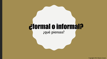 Formal and Informal Lesson