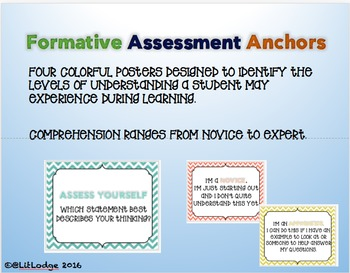 Elementary Formative Assessment Anchor Charts