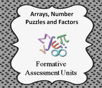 Formative Assessment Lesson: Arrays, Number Puzzles, and F