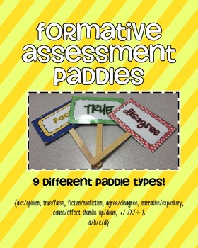 Formative Assessment Paddles {{student accountability}}