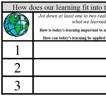 Formative Assessment - Real World Learning