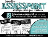 Formative Assessment Strategy Cards