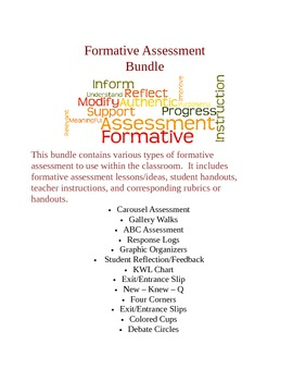 Formative Assessment Techniques and Lessons - Bundled