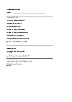 Formative Reading Survey