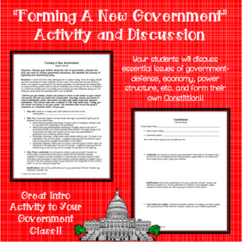 Forming A New Government Activity and Discussion