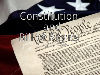 Forming the Constitution and Bill of Rights