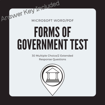 Forms Of Government Test