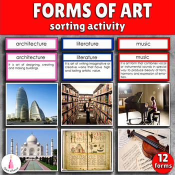Forms of Art Montessori Sorting Cards