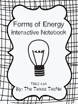 Forms of Energy Interactive Notebook (TEKS 4.6A)