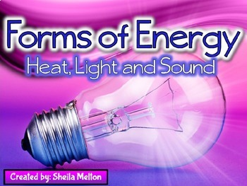 Forms of Energy PowerPoint (Heat, Light, Sound)