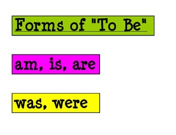 """Forms of """"To Be"""""""