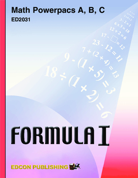 Formula 1 Powerpac A Lesson 2, Addition Facts through 20