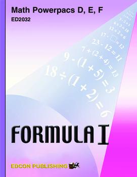 Formula 1 Powerpac F Lesson 3, Nonmetric Geometry